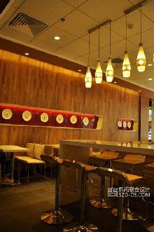 快餐厅设计-深圳梦想诚蒸快餐店室内装修设计实景照片赏析东门店